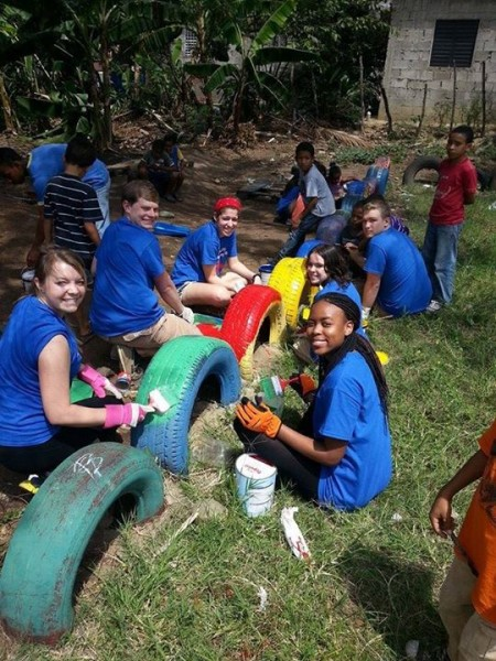 CP Service Learning students from Rider University in the Dominican Republic
