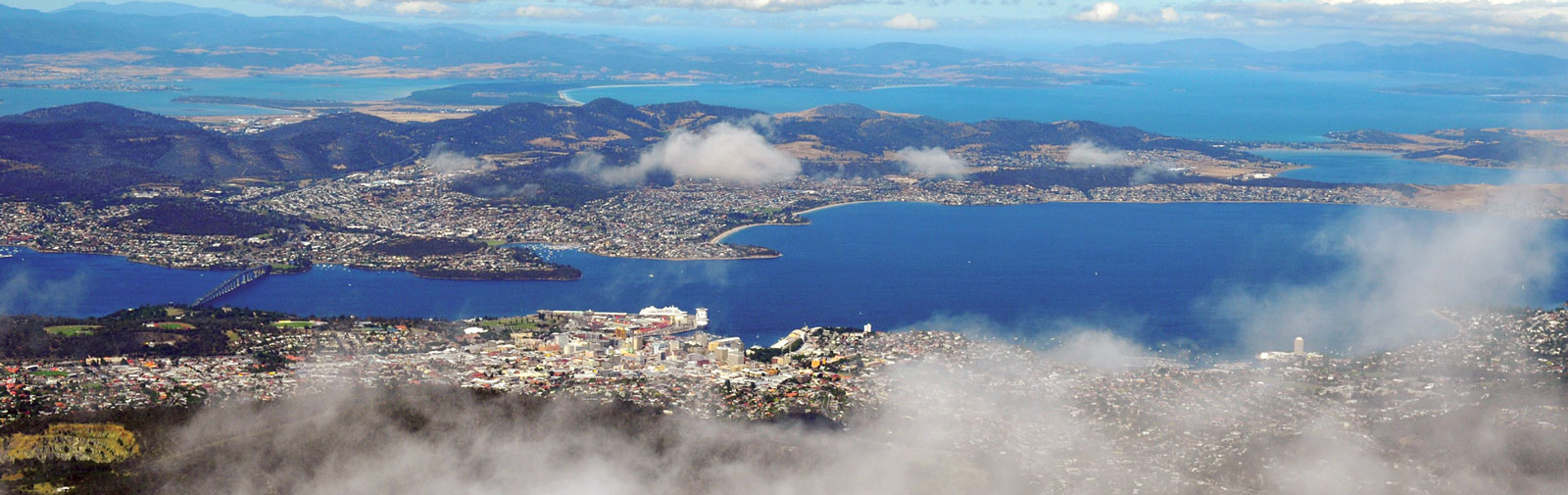 Hobart Tasmania from the sky