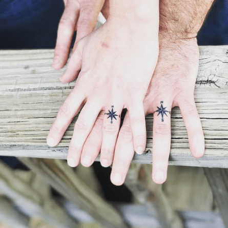 Classic compass tattoos help you to find true love! (Photo: Speakeasy Tattoo)