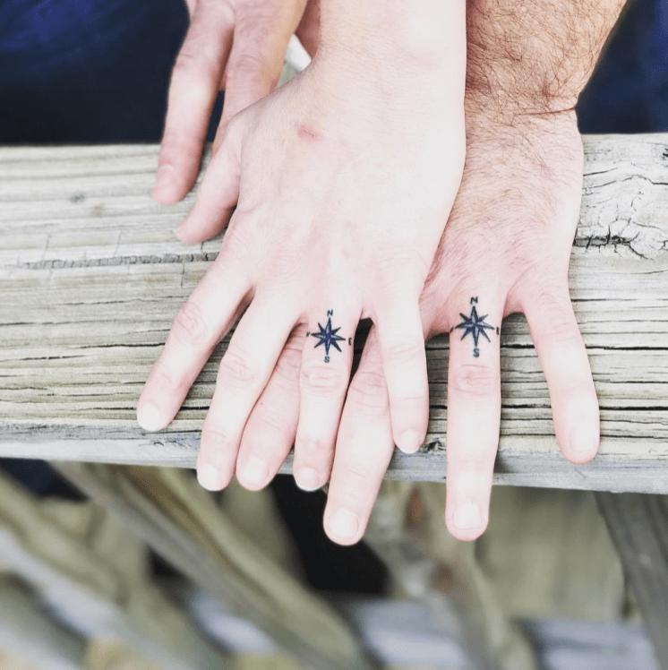 Classic compass tattoos help you to find true love! (Photo: Speakeasy Tattoo)