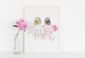 bridesmaids gift ideas 2019 art print illustration studio i do