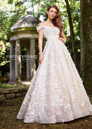 spring a-line wedding dress with floral appliques martin thornburg 119261 studio i do virginia beach