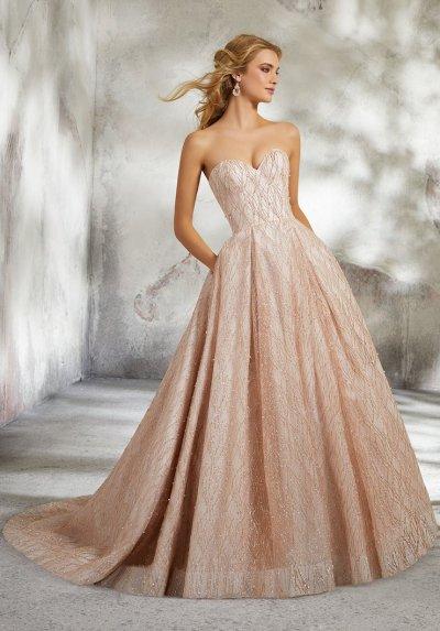 blush ball gown wedding dress for fall morilee bridal 8295 studio i do virginia beach