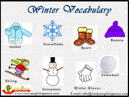 Winter Words And Phrases Vocabulary Study English In Cebu Official Blog Of Genius English