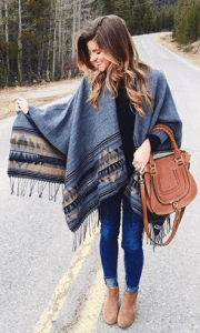 Poncho look