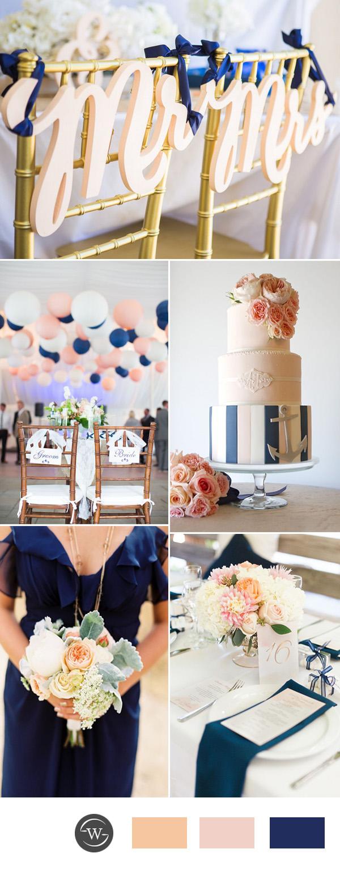Pink Navy Wedding Peach