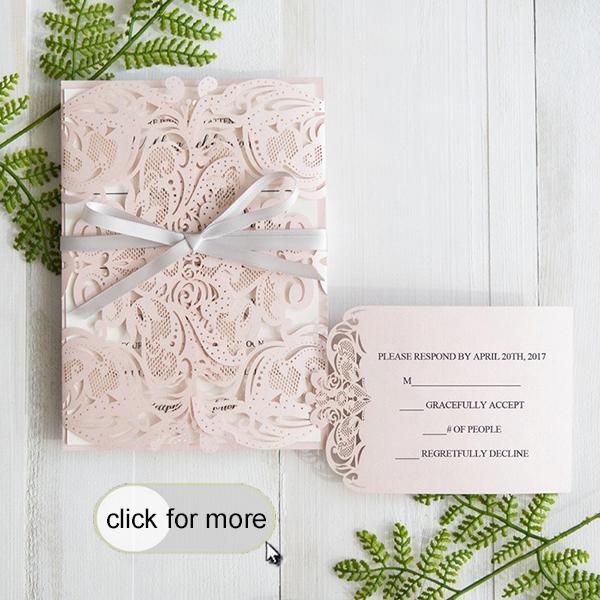 Cheap Wedding Invitations Pocket