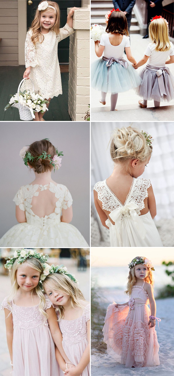 cute wedding flower girls dresses