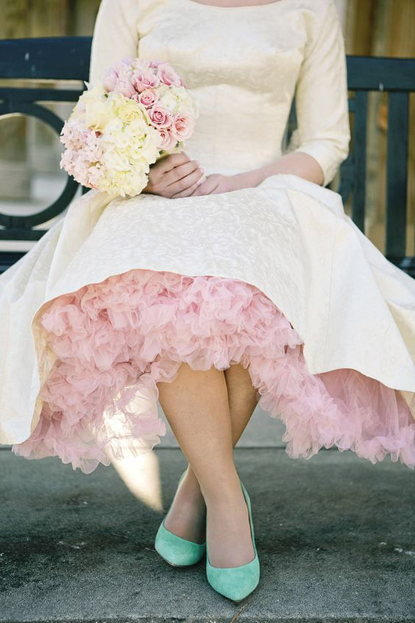inspired blush pink wedding skirts