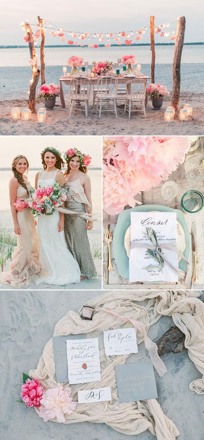 Romantic Boho Beach Themed Wedding Inspiration For Your