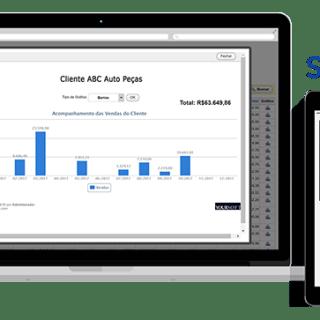 Visão Geral de Vendas por Cliente