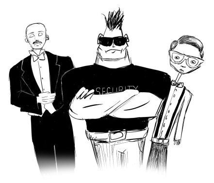 A butler, a bouncer, and a nerd