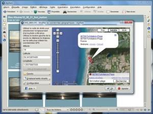 Ajouter les coordonnées géodésiques (digiKam)