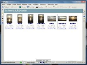 Filtrer les photos en fonction de leur note (digiKam)