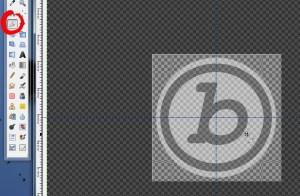 Redécouper le logo à l'aide de l'outil de découpage (le scalpel)