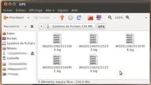Fichiers NMEA 0183 stockés dans la mémoire interne du traceur