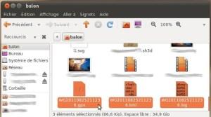 GPSBabel a généré un fichier GPX et un fichier KML