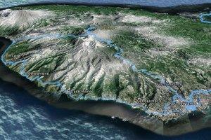 Survol de la côte Ouest de la Martinique dans Google Earth