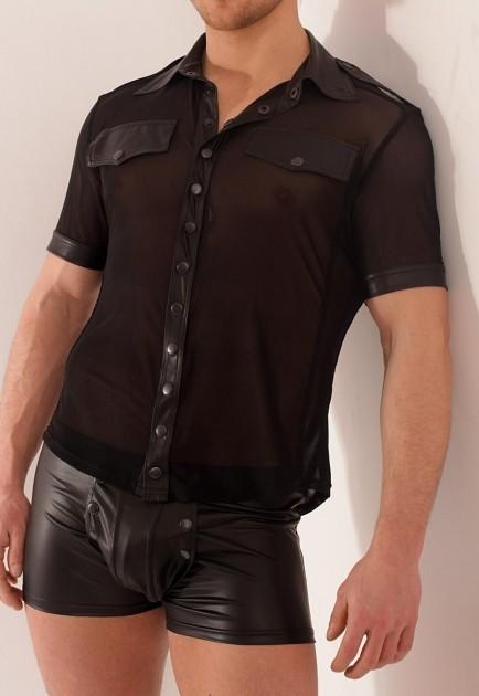 Männer-Hemd, z.B. Noir Handmade