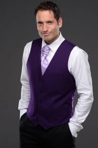 Tissington Party Waistcoat in Purple