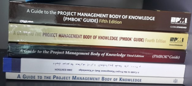 Various editions of the PMBOK Guide