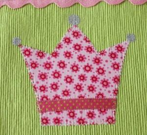Tischset Krone Detail
