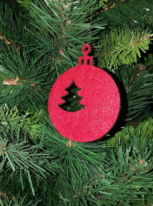 2 Farbige Weihnachtskugeln