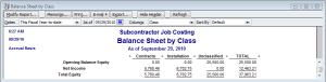 discount balance sheet by class