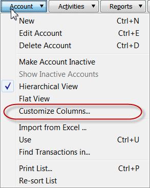 select customize columns