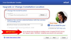 Install QuickBooks 2011 in it's own folder