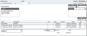 Invoice with multiple=
