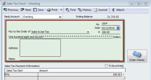 sales tax liability check