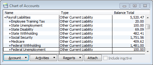 expanded and functional payroll liabilities section