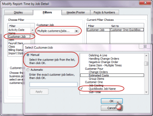 modifying the time by job detail report