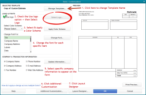 7 steps to customizing a QuickBooks form