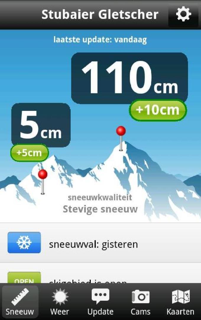 Sneeuwhoogte app