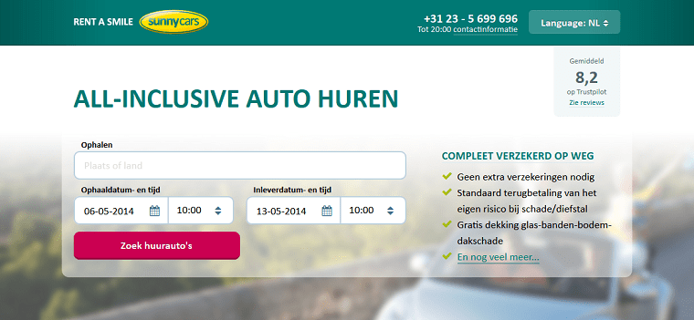 Preview Sunny Cars website