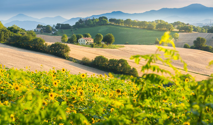 landschap italie maart