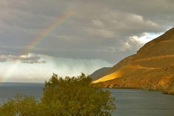 griekenland regenboog bergen