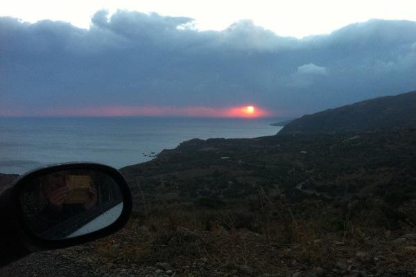 griekenland zonsondergang