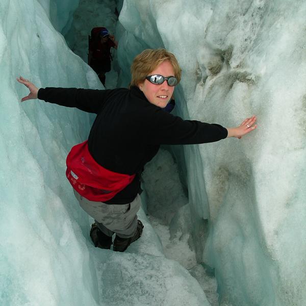 Sunny Annick Gletsjertoch Nieuw-Zeeland