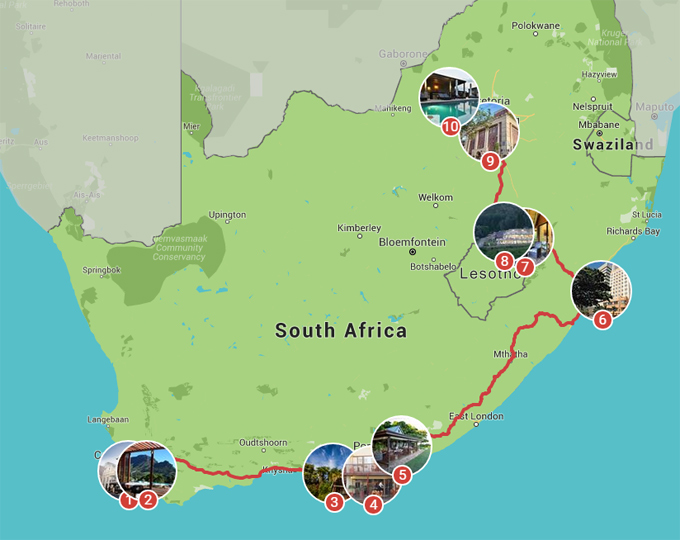 mijn zuid afrika planner landkaart