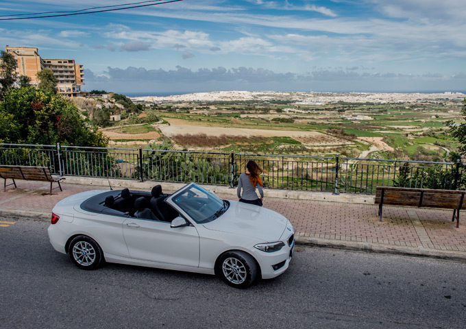 Malta cabrio vergezicht