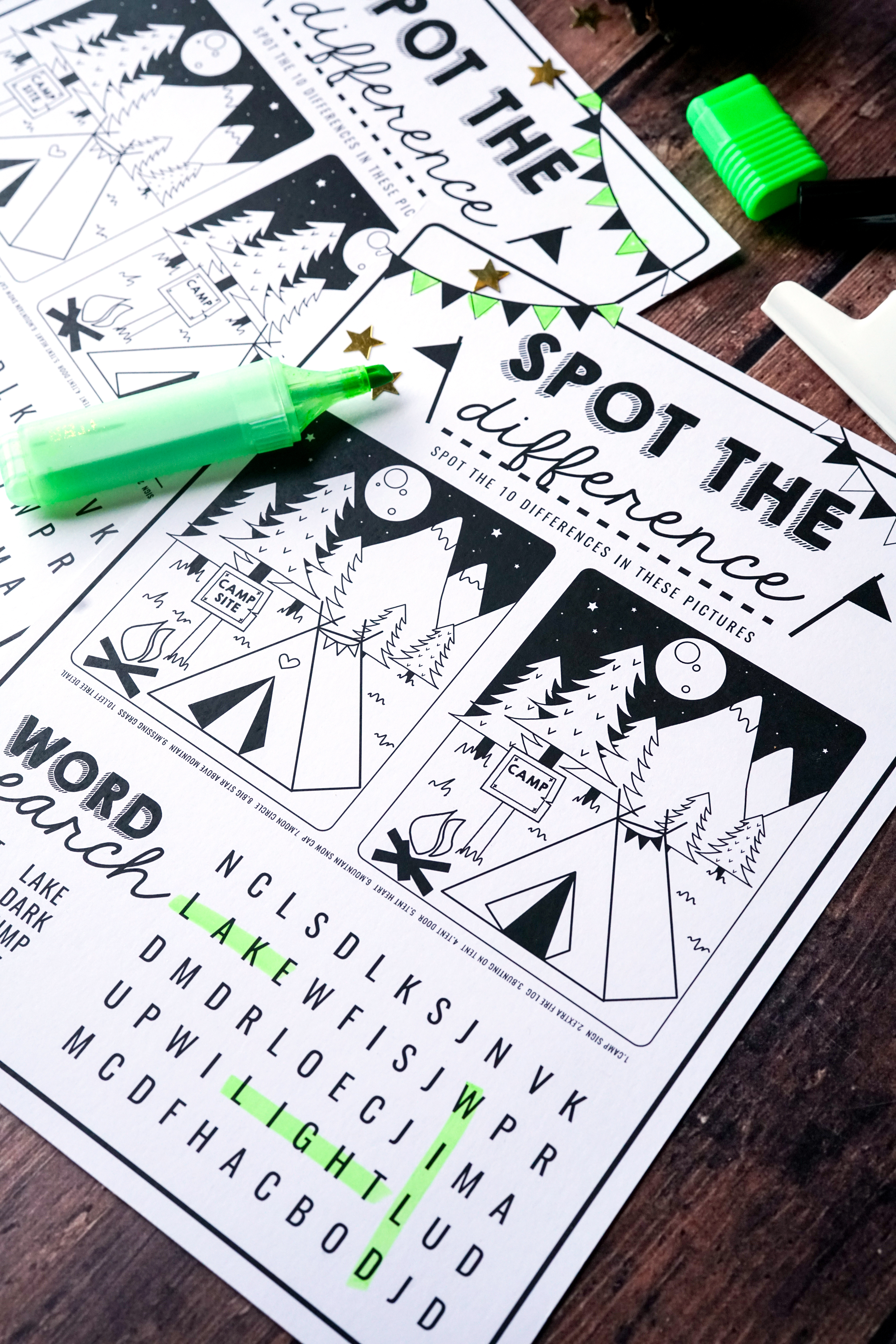 Free Kids Activity Worksheet Downloads Spot The Difference
