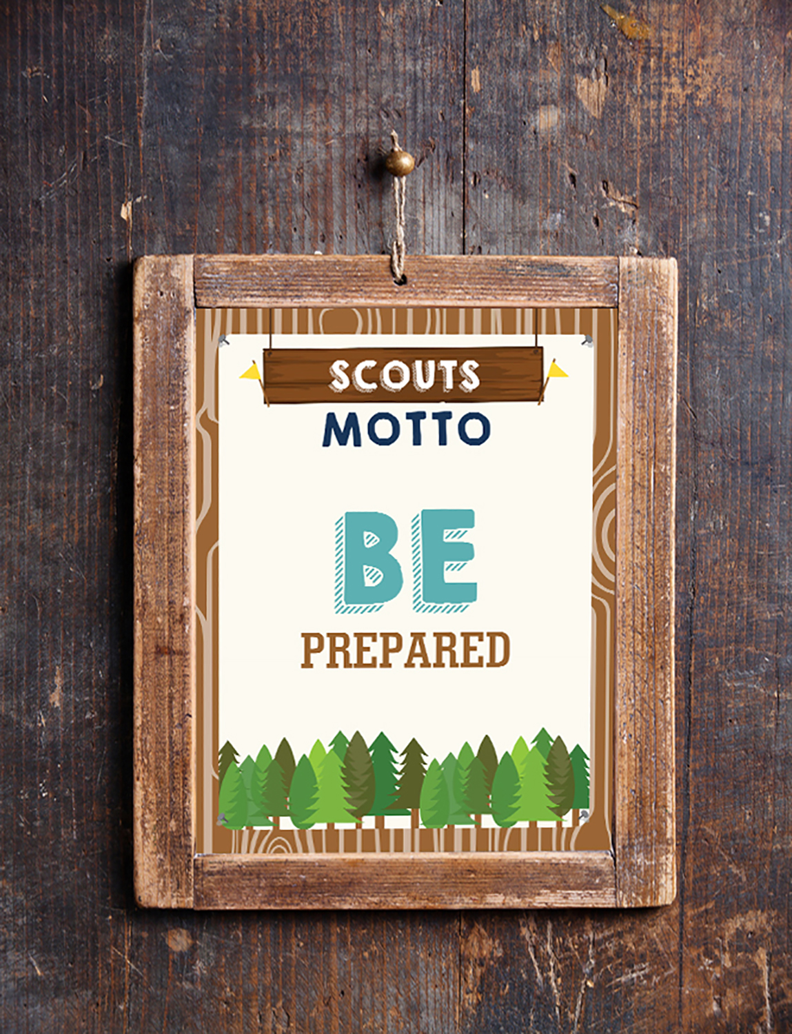 Boy Scout And Girl Scout Motto Oath Law Posters Printables