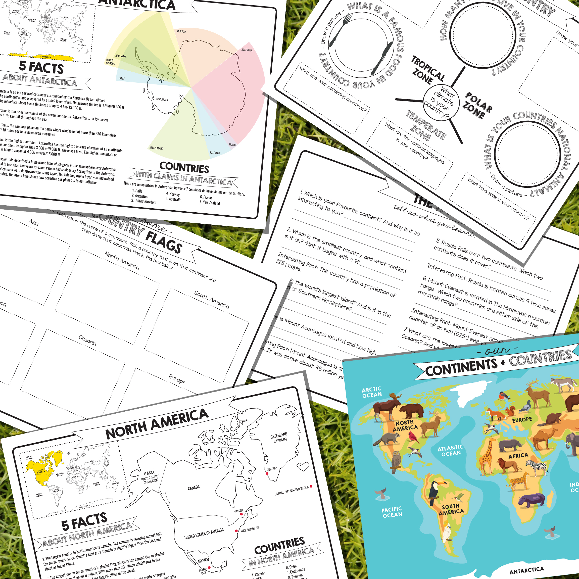 Printable Kids Geography Worksheets