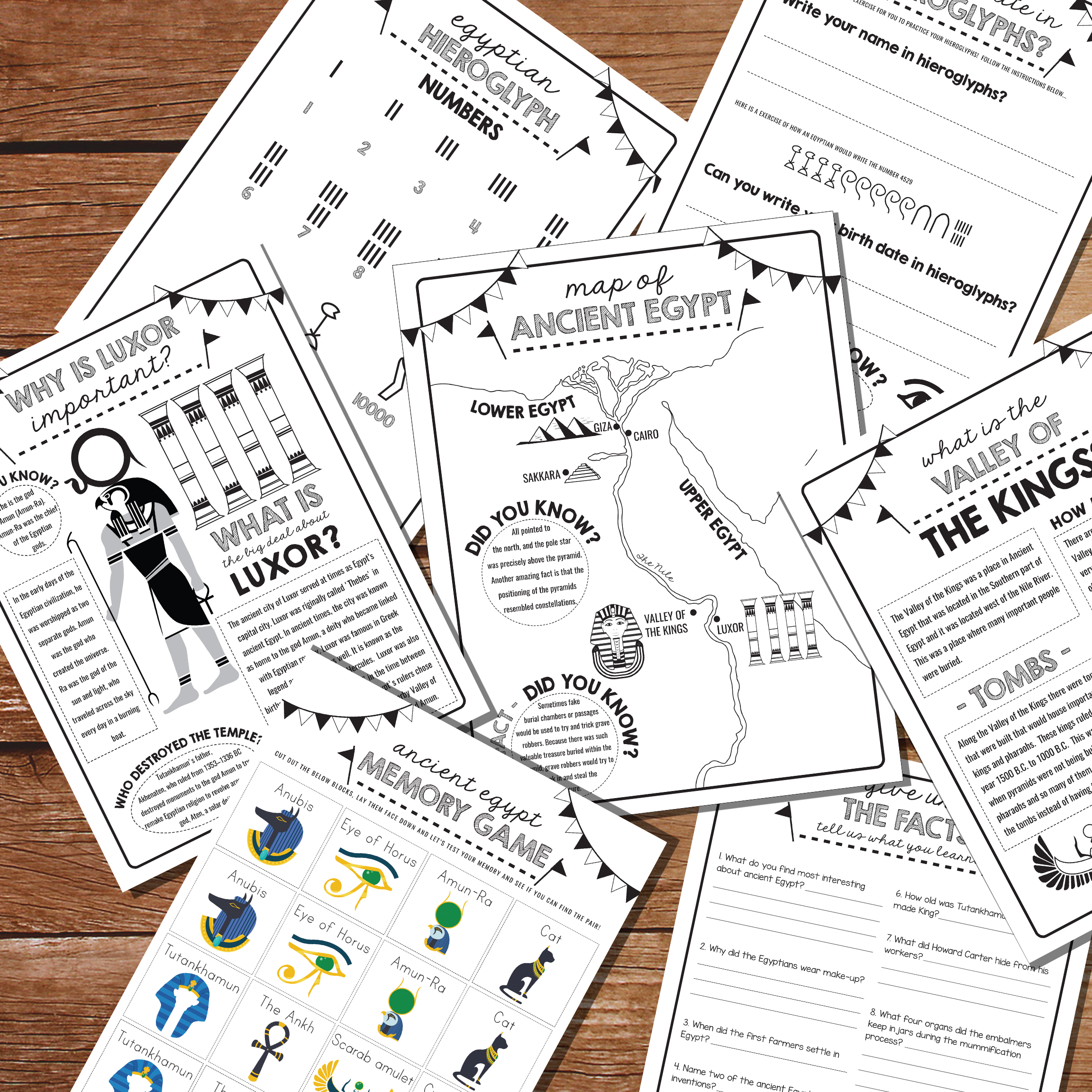 Explore Ancient Egypt With Printable Activity Sheets