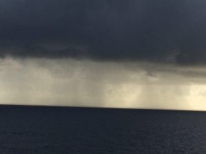 A storm on the Atlantic Ocean.