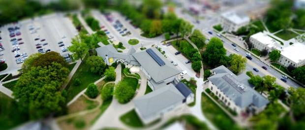 Diorama of a college campus