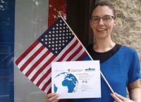 Joanna Munley with her COIL certificate